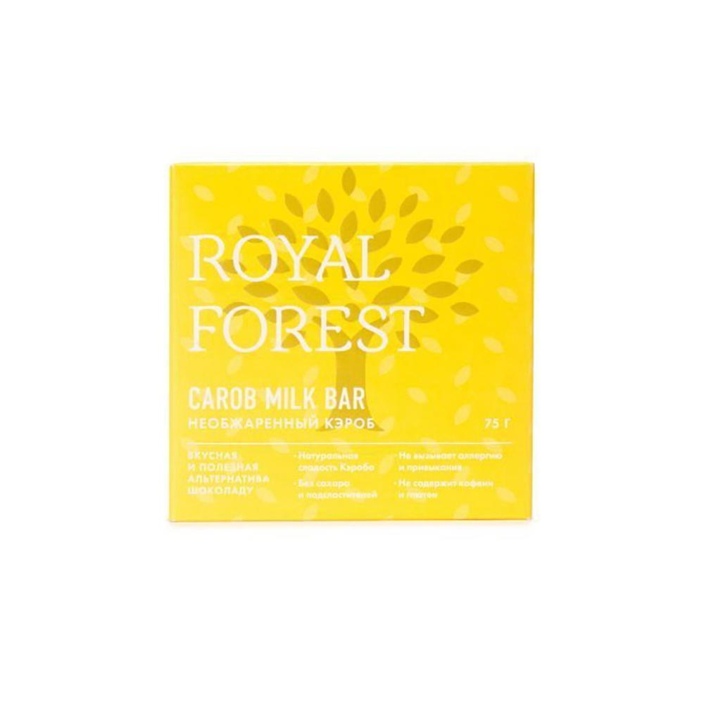 Шоколад Кэроб необжаренный | 75 г | Royal Forest